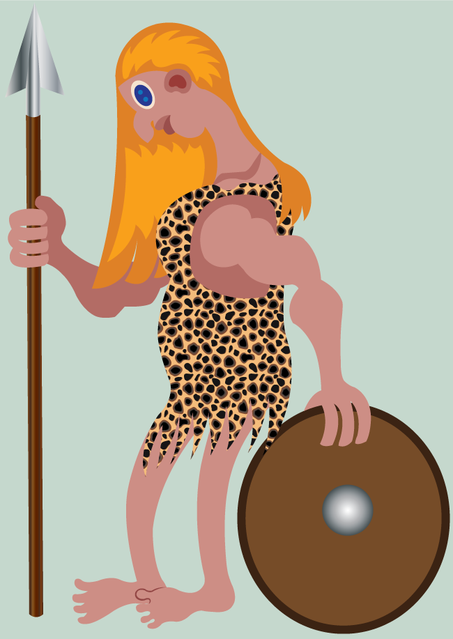 Vector Issue #6644: Warrior Woman 2-A lady combatant holds a spear and a shield