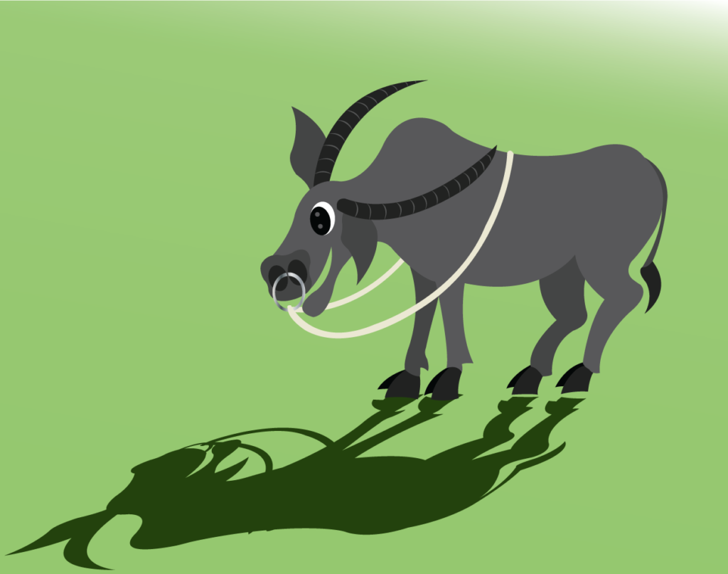 Vector Issue #6376: the legendary water buffalo of Asia,