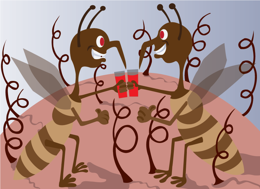 Vector Issue #6414: A toss of Blood, Mosquitoes enjoying a drink of blood