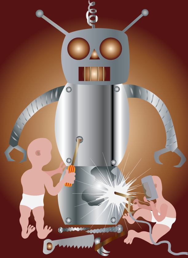 Vector Issue #6383: Ambitious kids building a robot