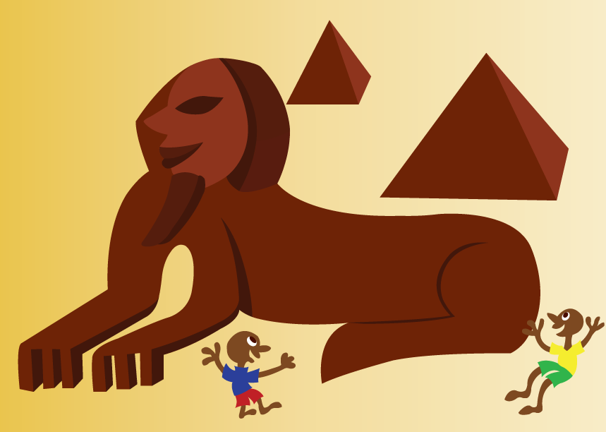 Vector Issue #6459: Ancient Egypt 2-Kids Playing near the Sphinx