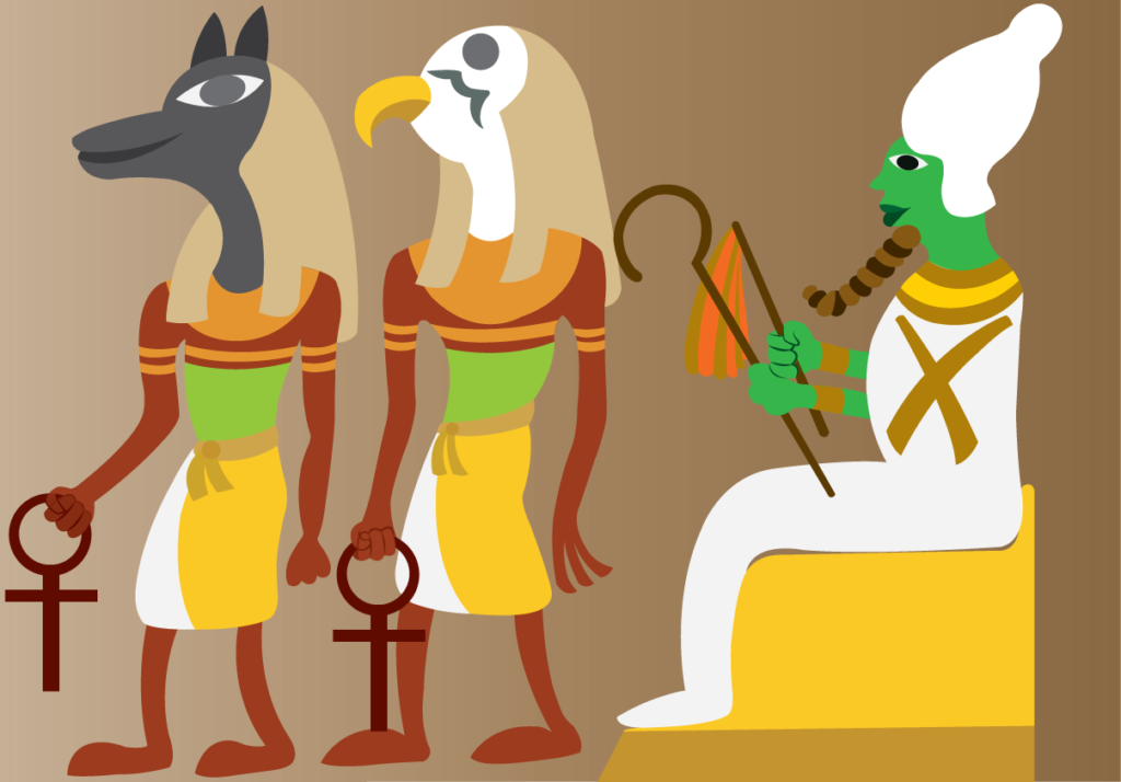 Vector Issue #6465: Ancient Egyptian deities- A linear representation of ancient Egyptian gods