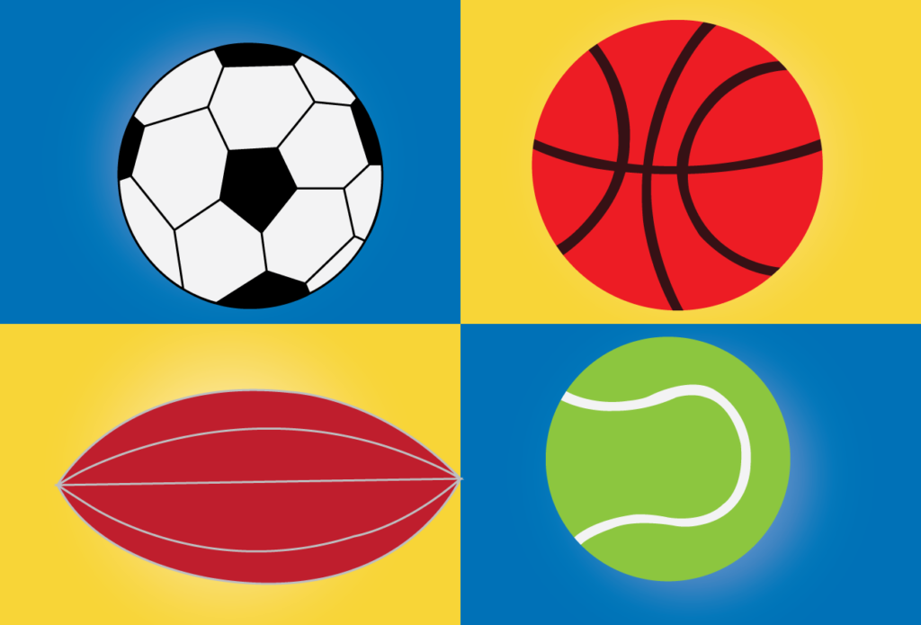 Vector Issue #6139: a bunch of balls used in different games
