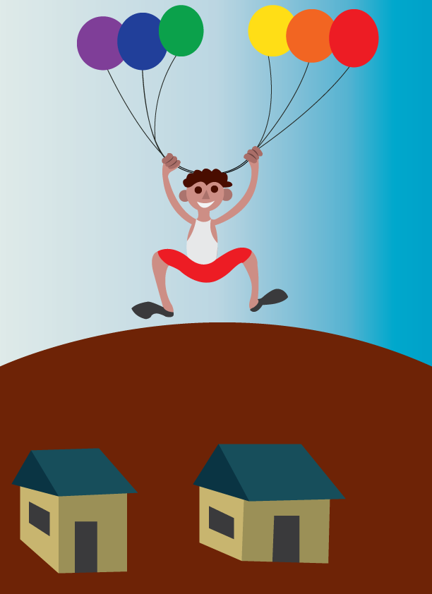 Vector Issue #6469: balloon lift-kid hanging to a balloon for lift