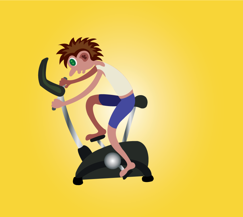 Vector Issue #6504: a workout on an exercise bike