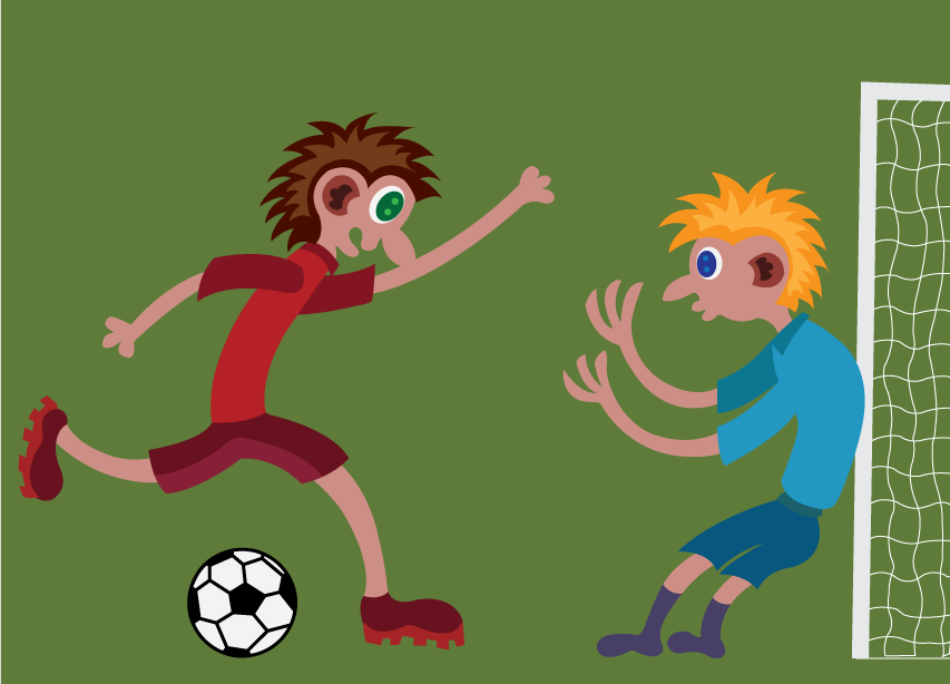 Vector Issue #6167: kids playing out in the football field