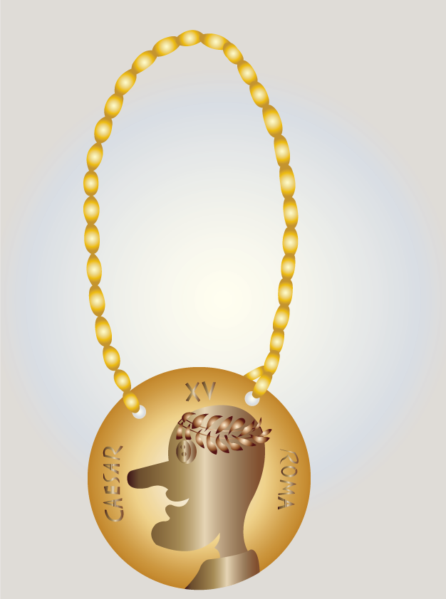 Vector Issue #6529: Medallion of Caesar-a medallion with Caesar's face on it