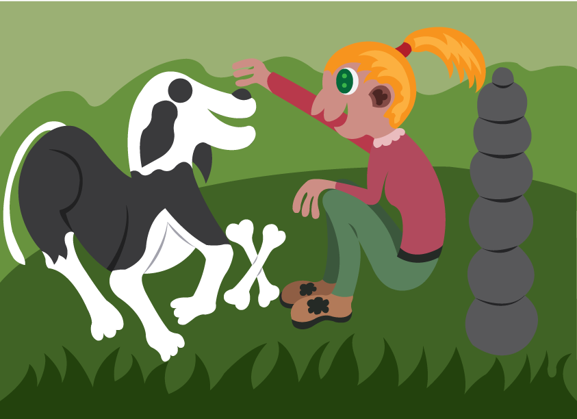 Vector Issue #6537: My Pet Friend-Girl playing with her dog