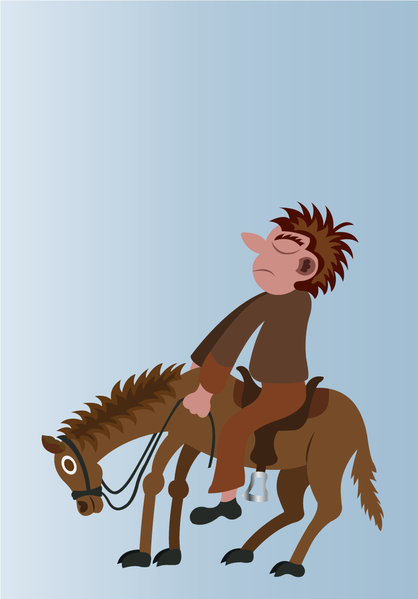 Vector Issue #6540: On his high horse-man mounts his beloved horse