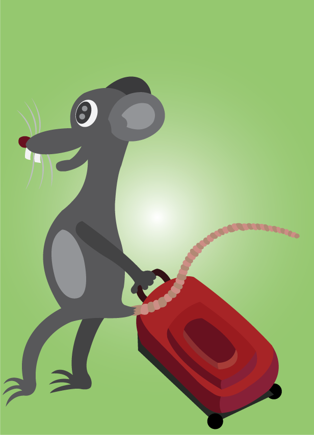 Vector Issue #6541: On my travel 1- a mouse moving out with a backpack,