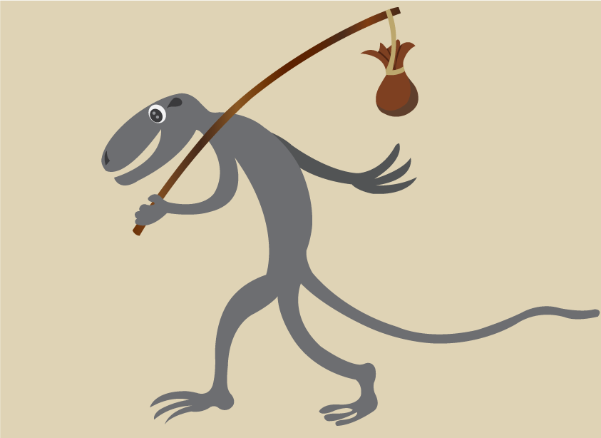 Vector Issue #6542: On my travel 2-a lizard going on a distant journey
