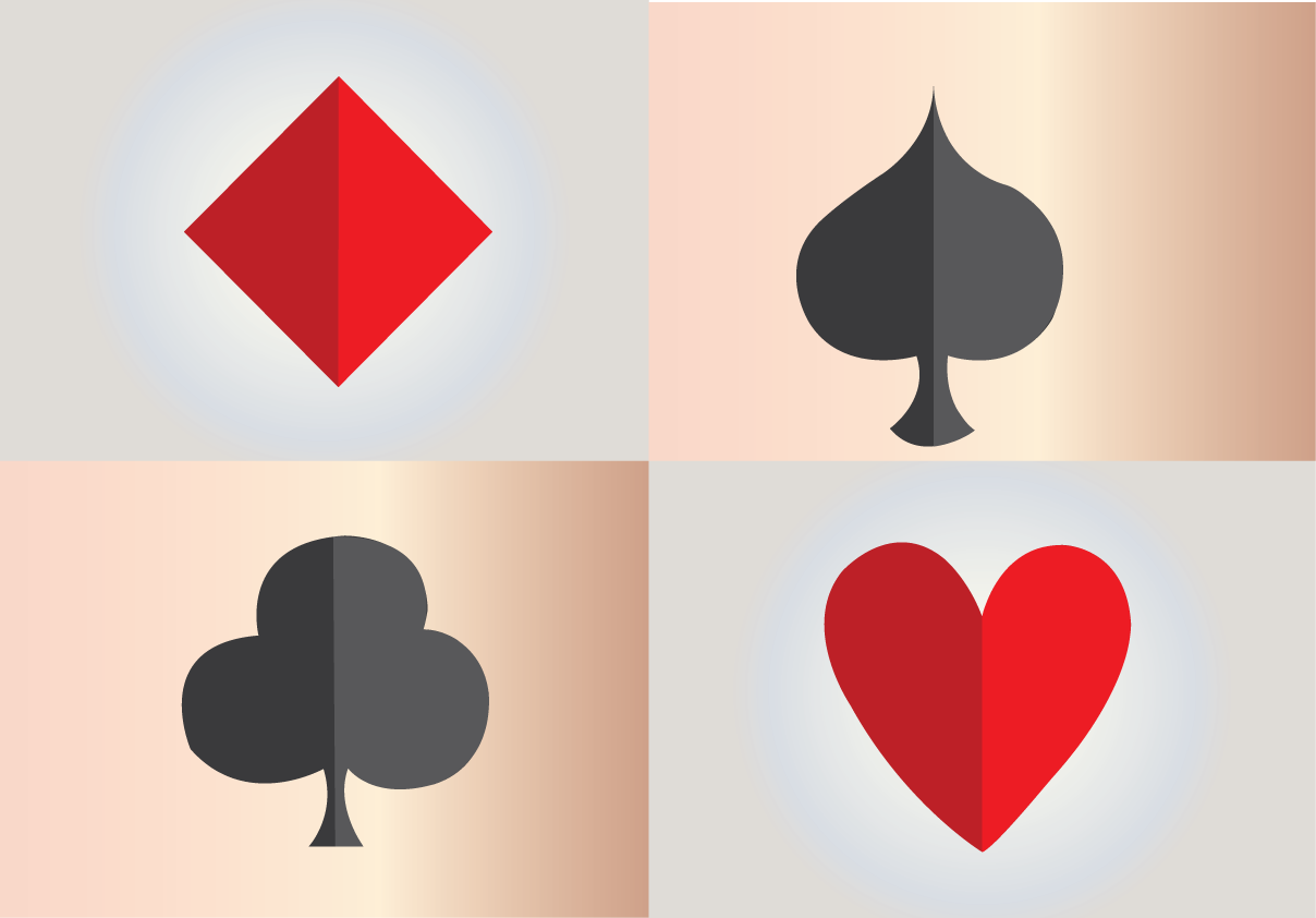 Vector Issue #6549: Playing Cards, a selection of playing card suits