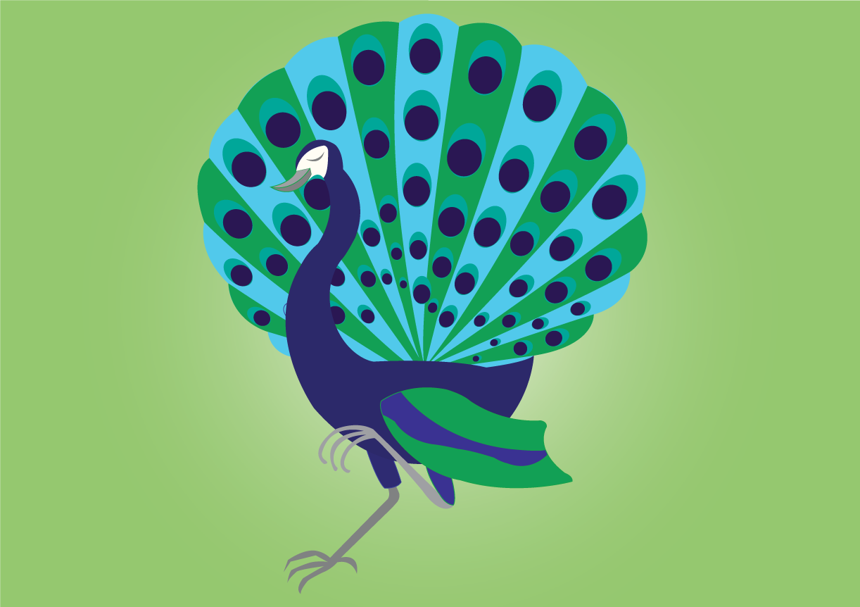 Vector Issue #6555: A proud Peacock strolling by