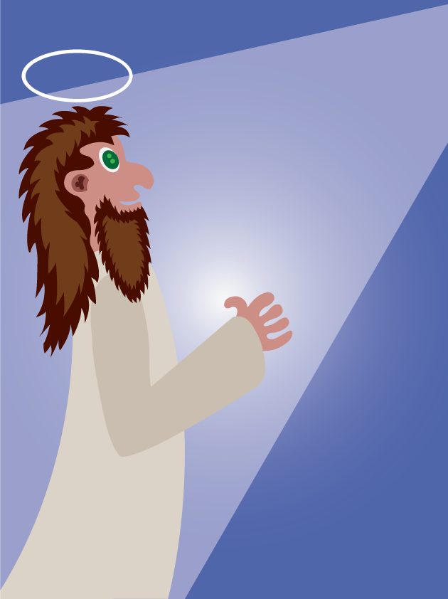 Vector Issue #6559: Religious man 3- a man receiving redemption