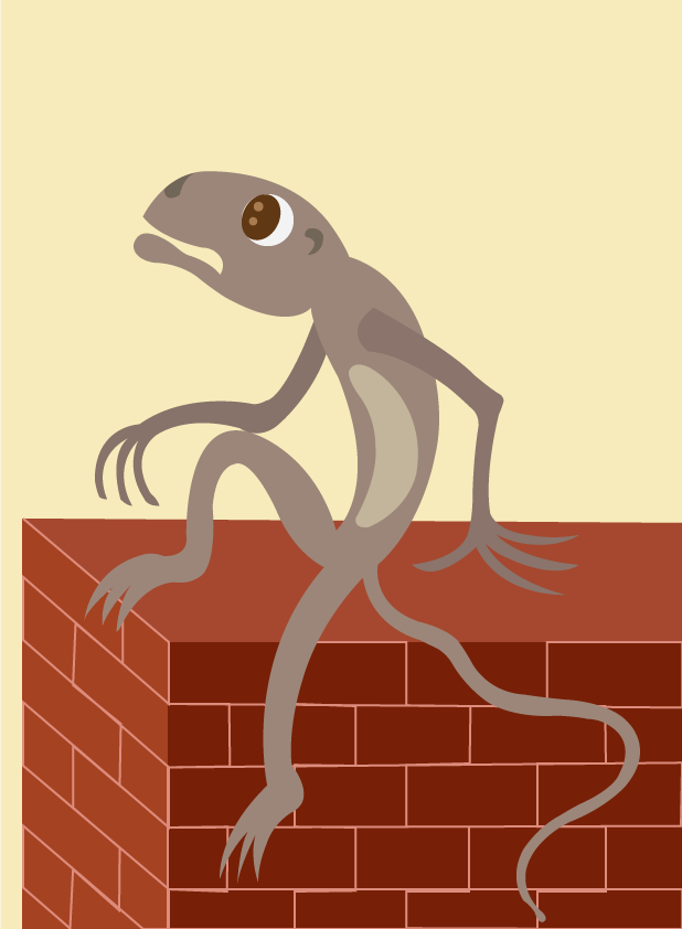 Vector Issue #6565: Sitting on the Fence-A lizard sitting on the Fence