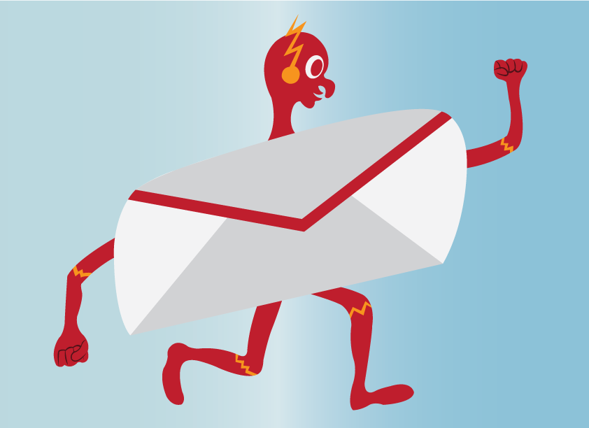 Vector Issue #6573: Super fast mail 1-A mail letter running at a lightning speed