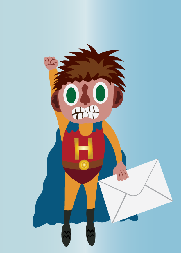 Vector Issue #6574: Super fast mail 2-A superhero delivering mail