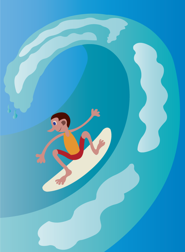 Vector Issue #6576: Surfing Moments-A junior riding the waves