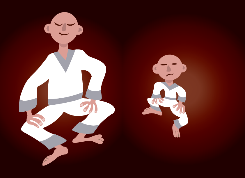 Vector Issue #6238: tai chi masters, a junior martial artist practicing with his senior