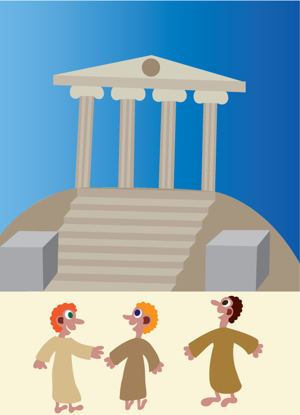 Vector Issue #6583: Temple Mount-believers paying visit to a sacred ancient temple