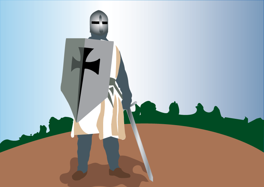 Vector Issue #6408: the fearsome knight Templar, a knight Templar armed to the tooth ready for combat