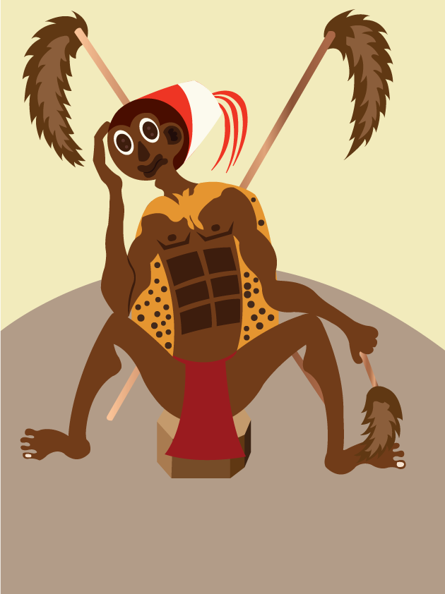 Vector Issue #6603: A tribal Chief sitting in his hat