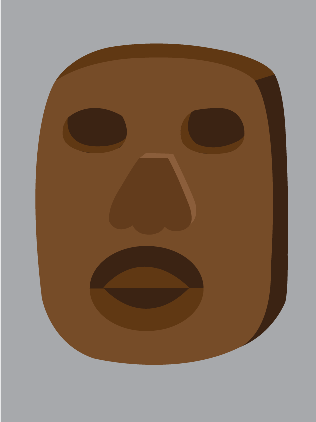 Vector Issue #6604: tribal masks-a wooden mask of an African tribe