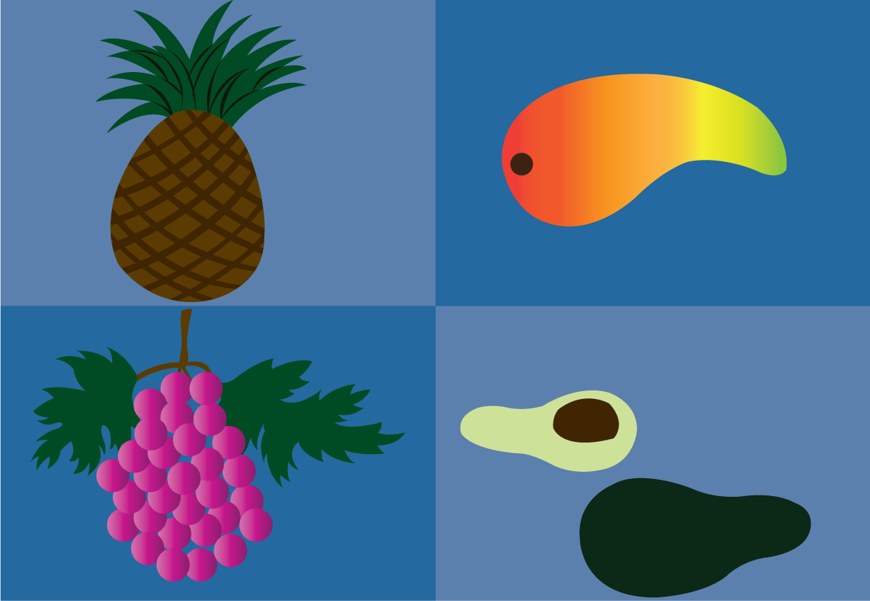 Vector Issue #6607: tropical fruits 2-a sample of tropical fruits