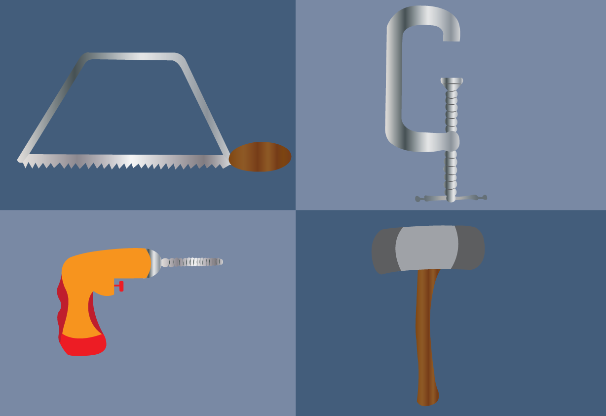 Vector Issue #6614: Workshop tools 1-tools used by carpenters in construction and repairs