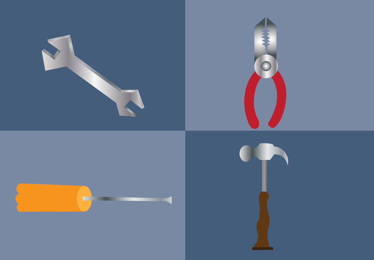 Vector Issue #6615: Workshop tools 2-tools used by carpenters in construction and repairs