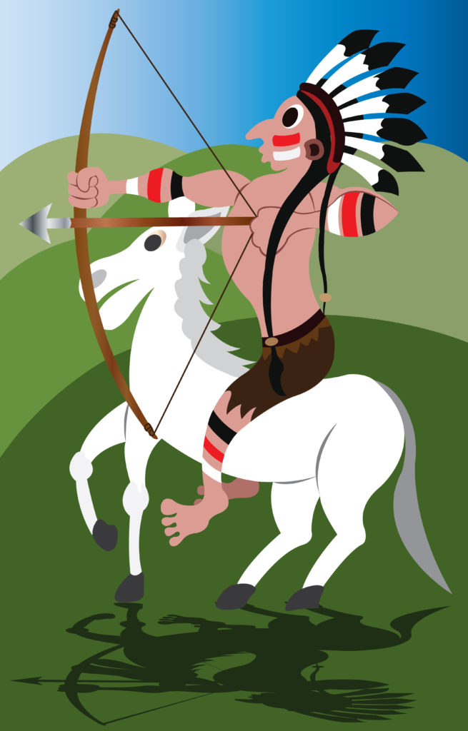 Vector Issue #6697: The Plains Indians left their incredible mark in history, nothing terrified settlers more  than to see a lone warrior on a horse back ready for action