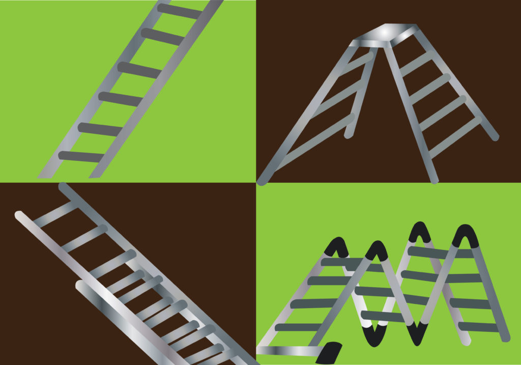 Vector Issue #6695: Different kinds of Ladders and Ramps used for scaling different kinds of heights