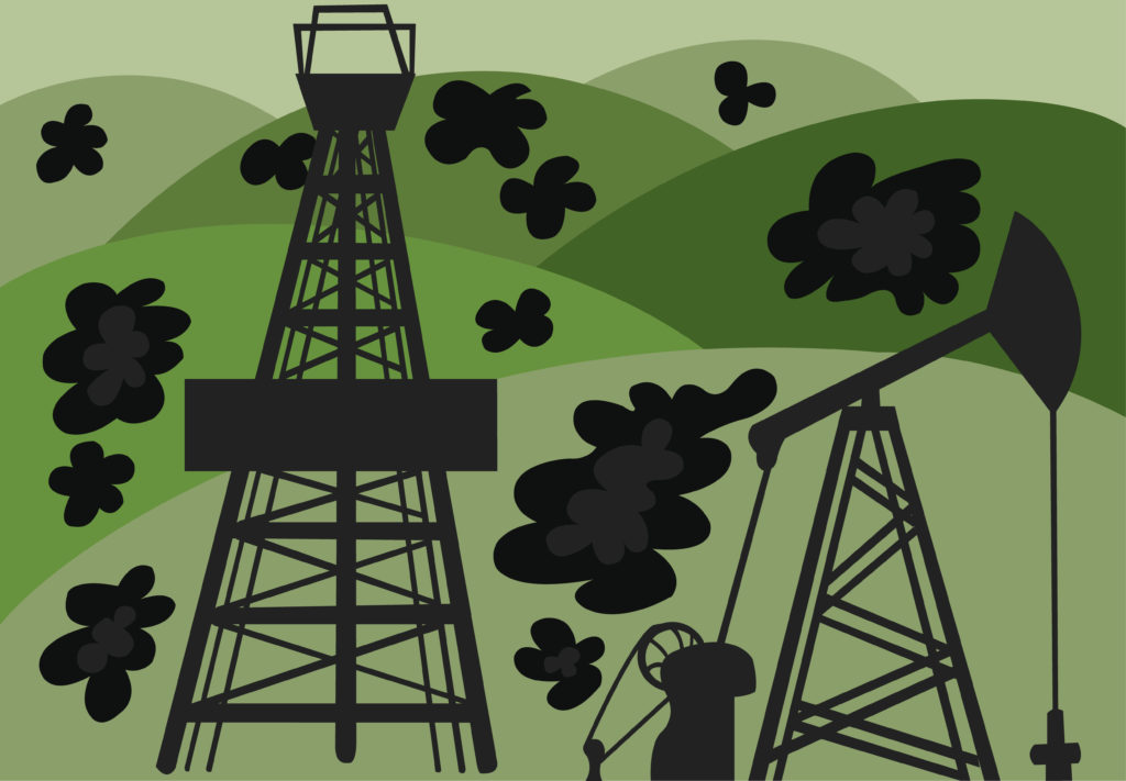 Vector Issue #6687: Since the discovery of Oil, Wells started springing up everywhere in the world from the beginning of the twentieth century, a discovery that made many nations super rich