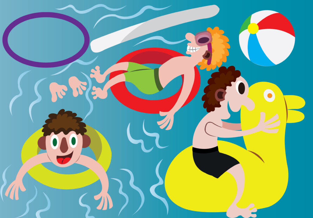 Vector Issue #6685: Lets Just cool off the afternoon heat in a pool party